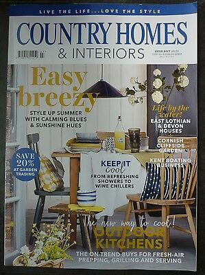 Country Homes & Interiors magazine July 2017 Outdoor Kitchens East Lothian Devon