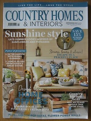 Country Homes & Interiors magazine September 2017 Home Offices Country Kitchen