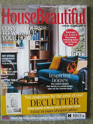 House Beautiful magazine November 2017 Liz Earle Declutter Stoves Lamps Crockery