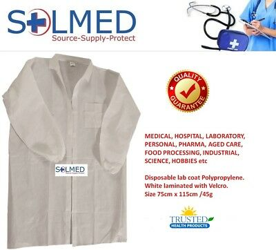 Lab Coat Protective Disposable Dust Coat White Sale See Details