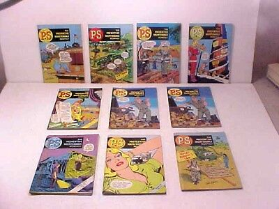 1967 PS The Preventive Maintenance Monthly  Lot of 10   Will Eisner art