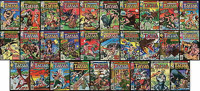 Tarzan Lord of the Jungle 1977 Marvel Complete Series Set 1- 29 Lot Burroughs