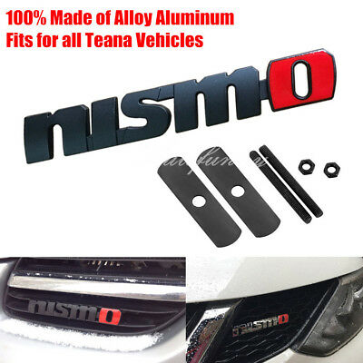 Auto 3D Metal Black/ed Finished Nismo Front Grille Grill Badge Emblem for Nissan