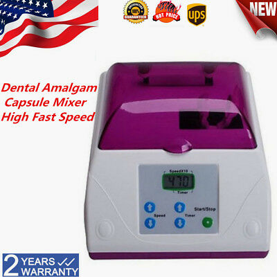 Dental Electric High Speed Amalgamator Amalgam Capsule Mixer Blend Device US