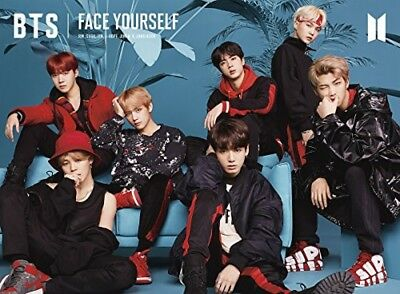 New BTS FACE YOURSELF Type A CD Blu-ray Booklet Sticker Japan