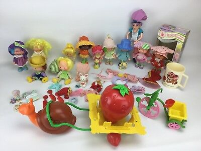 Large Lot Of Vintage Strawberry Shortcake Dolls With Pets And Accessories Snail 130 50 Picclick