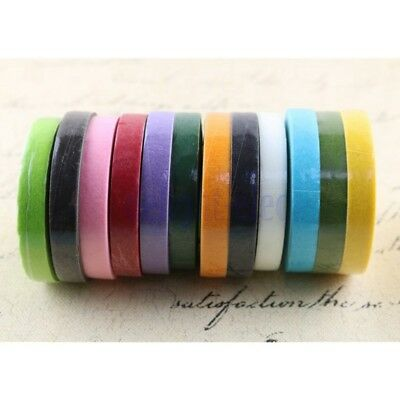 7colors Floral Stem Wrap Artificial Flower Metallic Tape Wire Craft 12mmX45m DH