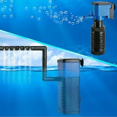 3in1 Aquarium Internal Filter Oxygen Submersible Water Pump For Fish Tank Pond U