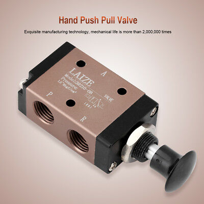 "Pneumatic G1/4"" 2 Position 3Way Manual Hand Push Pull Air Valve Control 3R210-08"