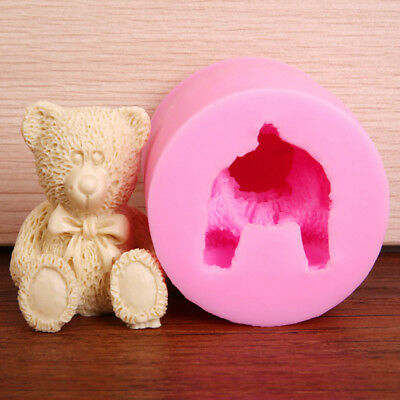 Bear Round Shape Silicone Mold Handmade Soap Craft Mold For Kitchen Baking LMJ