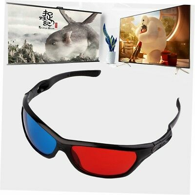 Black Frame Red Blue 3D Glasses For Dimensional Anaglyph Movie Game DVD A^^