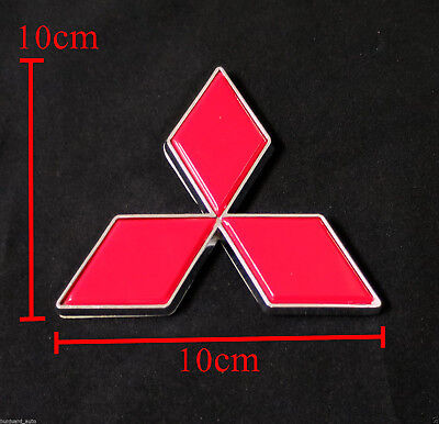Mitsubishi Red Lancer Pajero Shogun Colt Logo Emblems Badge Decals Plate Sticker