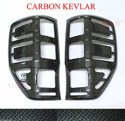 Carbon Mirror Lamp Cover Trim For New Ford Ranger Mazda Bt50 2012 2013 14 15 T6