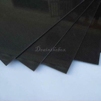 200X300X0.5mm With 100% Real Carbon Fiber plate panel sheet 3K plain weave PP