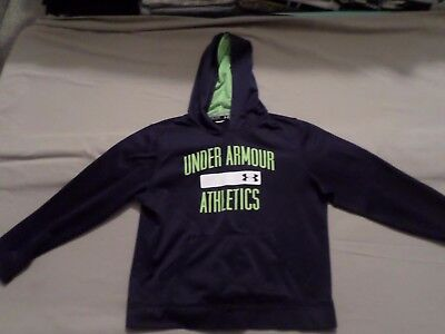 Under Armour Boys Blue Hoodie Sweatshirt Size Youth Large YLG Loose ~ VERY NICE