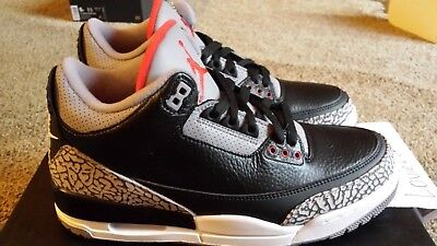 check out e9c20 48c5a 2018 NIKE AIR Jordan 3 OG Black Cement Retro III (854262-001) sz 8 w/  RECEIPT!