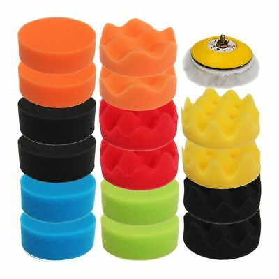 18pcs 75mm 3inch High Gross Polishing Pad Kit Sponge Car Foam Buffing Pad P Y5P8