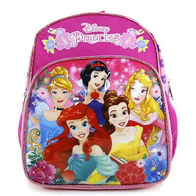"Disney Princess School Backpack Floral 10"" Mini Toddler Bag Pink Girls Bag"