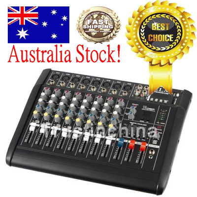 250W*2 8 Channel Professional Powered Mixer power mixing Amplifier Amp 16DSP