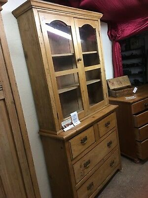 AMAZING Reclaimed Antique Pine Dresser (Cupboard, Sideboard, Drawers, Kitchen)