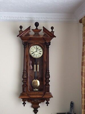 Victorian Twin Weight Vienna Wall Clock. Phone 07540199067, thanks