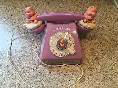 Care Bears 1983 Toy Vintage Phone Rainbow Telephone SUPER RARE