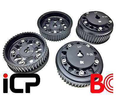 Brian Crower Black Adjustable Cam Pulleys Fits: Subaru Impreza Turbo 98-15