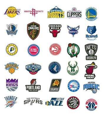 NBA Sticker / Aufkleber - Basketball - Teamlogo - Alle Teams - Bulls, Lakers etc
