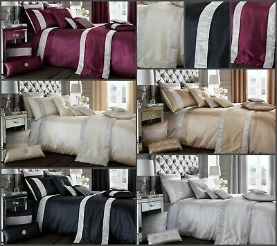 New Luxury Fancy Duvet Quilt Cover With Pillow Cases Single Double King & Runner