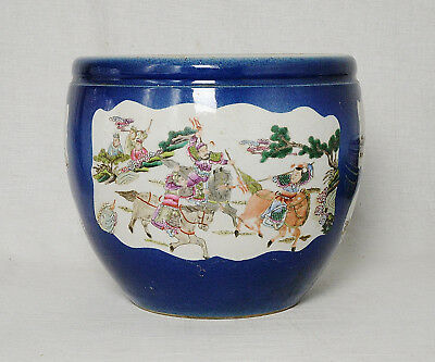 Chinese  Blue  Glaze  With  Famille  Rose  Porcelain  Jar  With  Mark     M2642