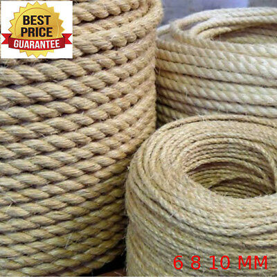 Natural Sisal Rope Coils Cats Garden Decking Pets Scratching Post 3 Strand BEST