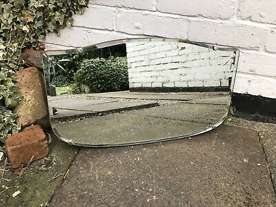 Vintage Mirror art deco beveled edged frameless wall mirror with Etched Detail