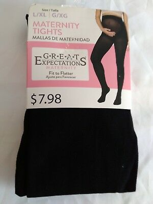 Great Expectations Maternity Tights Size L/XL Black Closed Toe
