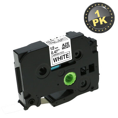 Compatible for Brother TZ-231 Black on White P-Touch Label Tape 12MM TZe231 1PK