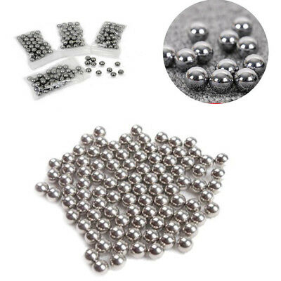 100pc DIY Slingshot Ammo Toy Bicycle Solid Stainless Steel Ball Bearing 1mm-6mm