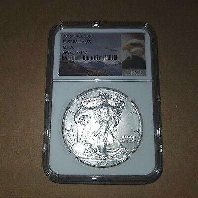 2015 $1 Eagle First Release Ms70 Ngc Grade