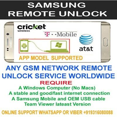 Instant T-Mobile Remote Device Unlock App Service Samsung Galaxy S8/S8+ Note 8