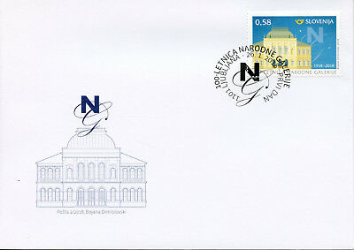 Slovenia 2018 FDC National Gallery 100 Yrs 1v Set Cover Art Architecture Stamps
