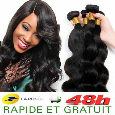 Tissage Bresilien Extension De Cheveux Humain 100% Naturel Virgin Remy 5A+ 100G
