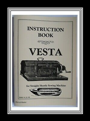 Vesta Transverse shuttle Sewing Machine Instructions Manual Booklet
