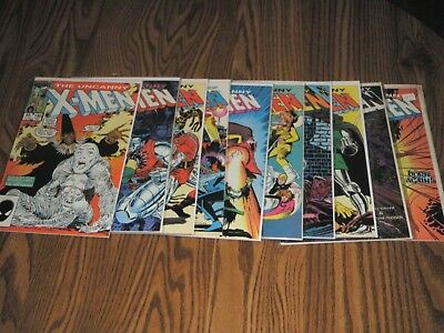 Uncanny X-Men Lot #190-199 complete all 10 issues! 193 1st Warpath from X-Force!