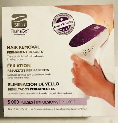 NEW Silk'n Flash&Go Permanent Hair Removal Device 5000 flashes - HPL Technology