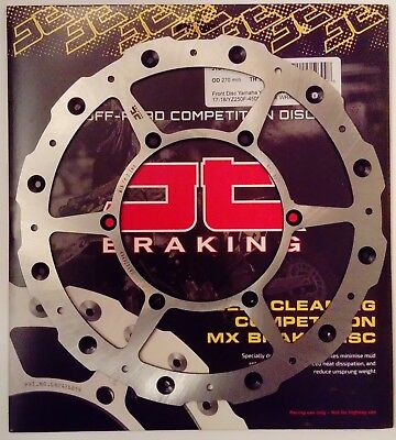 Yamaha WR250F (2017 to 2018) JT Brakes Self Cleaning FRONT Wavy Brake Disc
