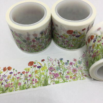 Washi Tape Wide Floral Meadow 30Mm X 5Mtrs Craft Wrap Planner Scrap