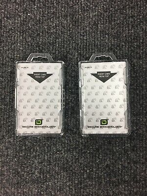 Identity Stronghold Secure Badge Holder Duolite, Clear (IDSH2004-001B-CLR) 2pc