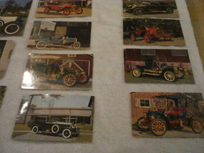 Lot of  28 Antique  Auto Post Cards from the 1950s, 1960s