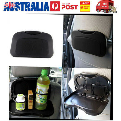 Hot Folding Auto Car Back Seat Table Drink Food Cup Tray Holder Stand Desk AU