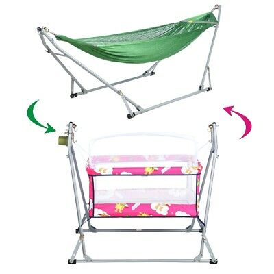 Auto Electric Swing Cot Cradle and Hammock 4 Infant Baby Rocker Bounce Toddler