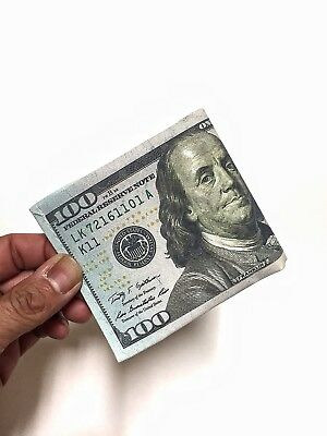 100 DOLLAR BILL WALLET BIFOLD CANVAS, supreme, slim wallet money credit card id
