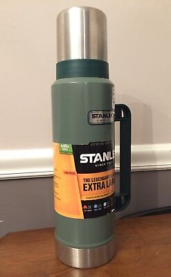 Stanley Thermos Vacuum Bottle Classic Stainless Steel 1.4 Quart 1.3L Green